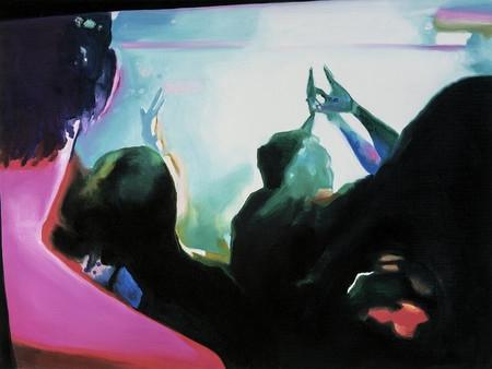 Corinne Wasmuht, aus der Serie / from the series Menschen im Kunstlicht, 2000 courtesy Kunsthaus NRW Kornelimünster