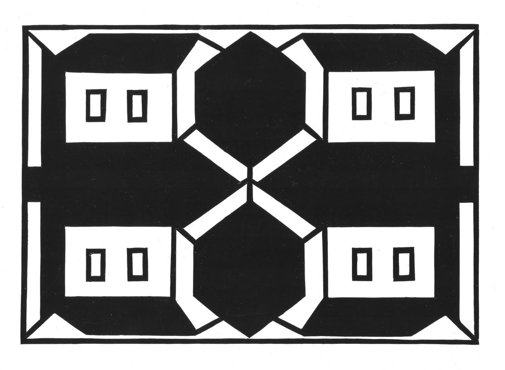 Hab Acht, 1999, Kartondruck, Auffaltung, 45 x 65 cm