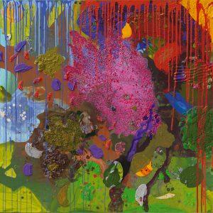 o.T., 2017, Acryl, Leinwand, 120 x 170 cm