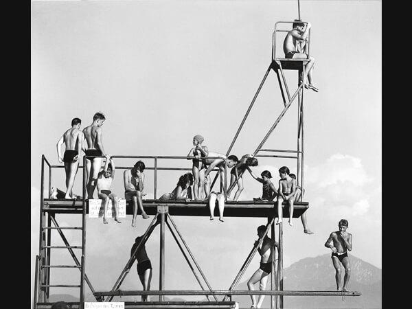 Peter Keetman: Sprungturm, Prien am Chiemsee 1957 © Nachlass Peter Keetman/ Stiftung F.C. Gundlach