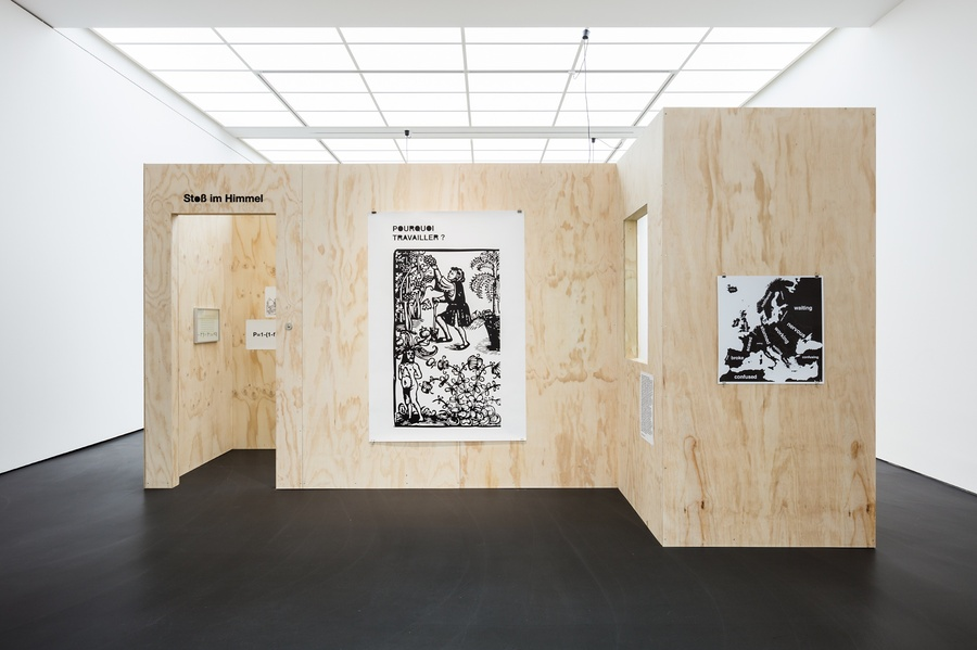 Exhibition view: Rooms 1 and 2 Were People This Dumb Before TV? A Curated Selection from the Graphic Archive 1990–2017, 2017 Esther Schipper, Berlin   Photo © Andrea Rossetti