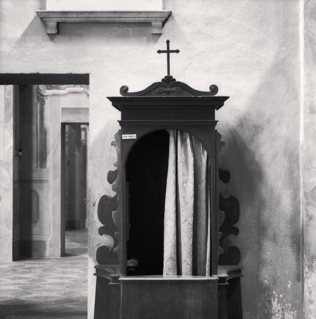 Michael Kenna - Confessional, Study 1, Chiesa dei Santi Pietro Apostolo e Prospero Vescovo, Reggio Emilia, Italy. 2007, Silver Gelatine Print, 50 x 40 cm