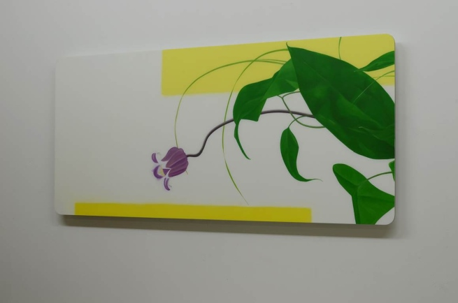 Christian Faul: 04-117 florre, 60x138x4,5 cm, Öl/Acrylglas;Aluminiumschichtplatte, 2017