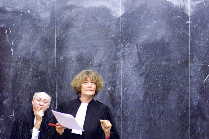 Patrick Bernier & Olive Martin : « X. versus the administrative court of… ; The Case for a Legal Precedent », 2007 (Performance), Foto: Marc Domage