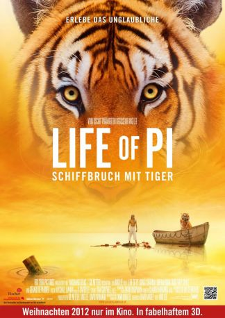 Life of Pi: Schiffbruch mit Tiger 4D