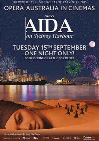 AIDA on Sydney Harbour - Opera Australia