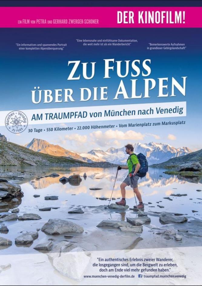 Zu Fuß über die Alpen, von München nach Venedig