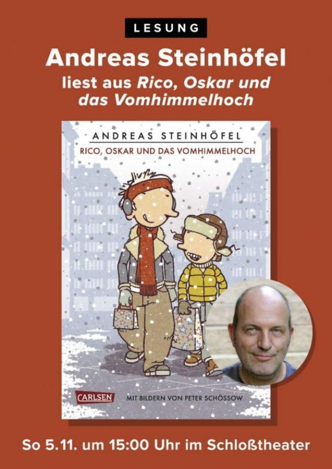 """Andreas Steinhöfel liest aus """"Rico, Oskar und das Vomhimmelhoch"""""""