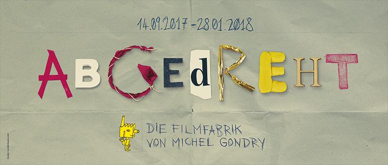 Abgedreht! Die Filmfabrik von Michel Gondry - Plakat zur Ausstellung, Deutsches Filmmuseum, Design: nordisk-buero.com