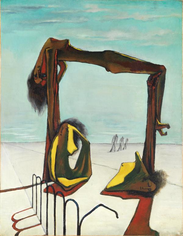 Ramsès Younane, Untitled, 1939, Öl auf Leinwand, 47 x 36,50 cm, Courtesy H. E. Sh. Hassan M. A. Al Thani collection, Doha