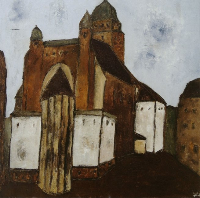 Die Bamberger Synagoge, Alexander Dettmar, Oel auf Leinwand, 100 x 100 cm, 2011