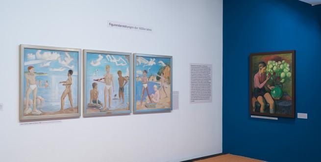 Installationsansicht Flucht in die Bilder? Die Künstler der Brücke im Nationalsozialismus, Foto: Nick Ash, © Brücke-Museum