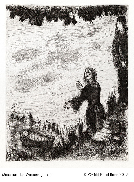 """""""Mose aus den Wassern gerettet"""", Marc Chagall, ©VGBild-Kunst Bonn 2017"""