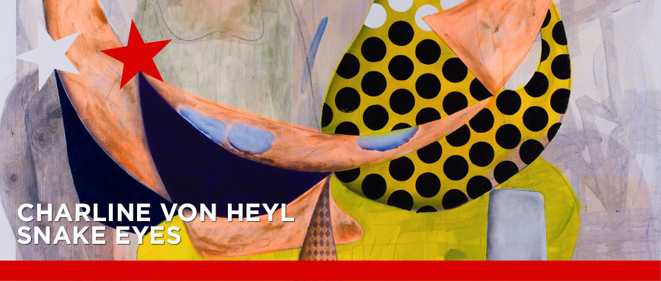 Charline von Heyl: Spoudaiogeloion, 2015 (Detail). Sammlung Brandhorst, München (DE) © Photo: Butcher Walsh, Courtesy Galerie Gisela Capitain, Köln, © Charline von Heyl