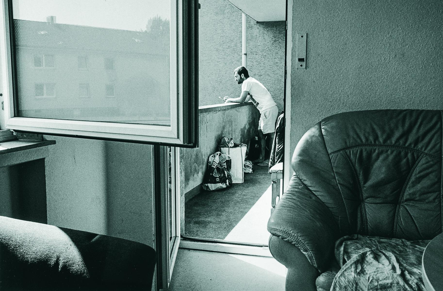 Geflüchteter aus Afghanistan in einer Flüchtlingsunterkunft in Mülheim