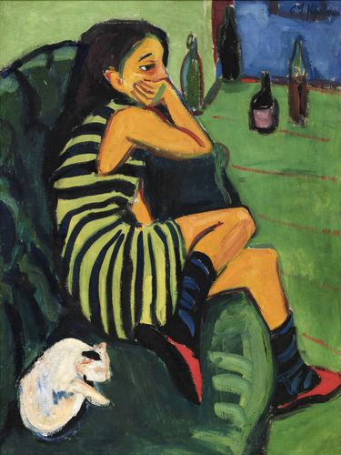 Ernst Ludwig Kirchner, Artistin – Marcella, 1910, Öl auf Leinwand, 101 x 76 cm, Brücke-Museum Berlin