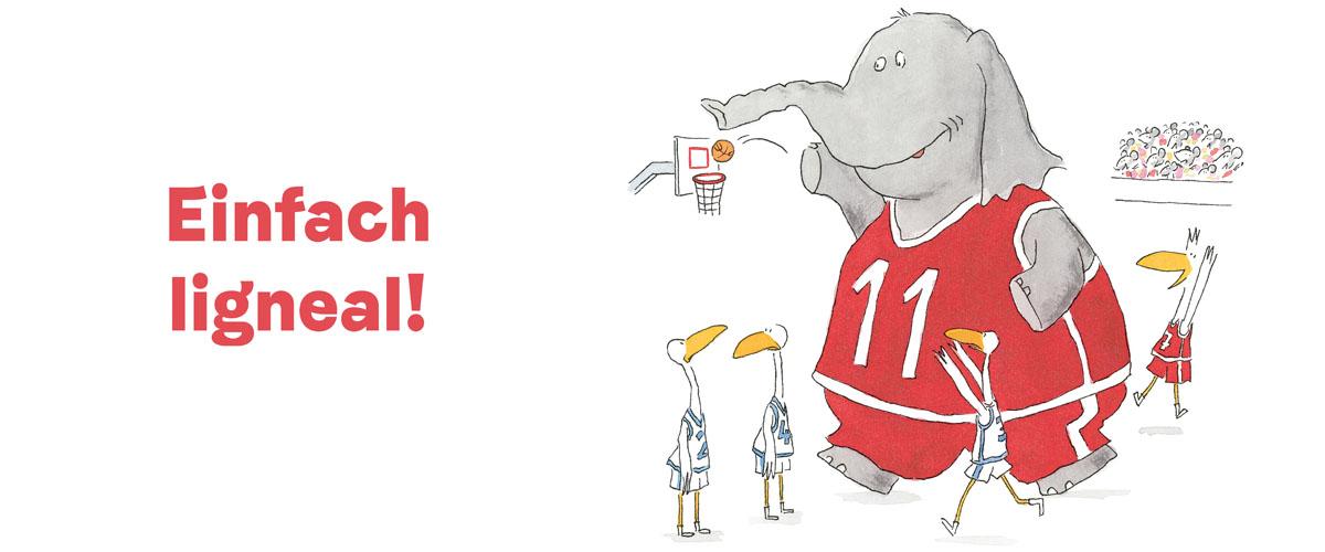 © Ole Könnecke. Sport. Hanser Verlag 2017 - Elefant