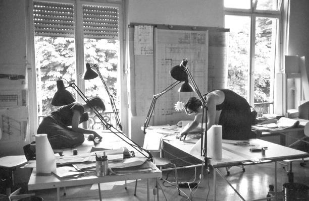 DAM_Frau Architekt_Mitarbeiterinnen Mannheimer Büro Ingeborg Kuhler, 1986 \\ © Büro Ingeborg Kuhler