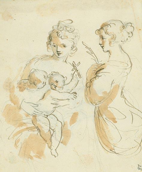 Aus dem Skizzenbuch des Johann Christoph Haller von Hallerstein. Bildnachweis: Museen der Stadt Nürnberg, Kunstsammlungen