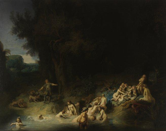 Rembrandt (Harmensz. van Rijn), Das Bad der Diana mit Aktäon und Kallisto, 1634, Öl auf Leinwand, Wasserburg Anholt, Sammlung der Fürsten zu Salm-Salm, Foto: Wasserburg