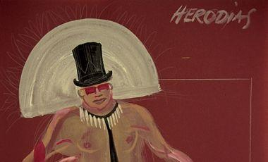 """Kostümentwurf von Erwin W. Zimmer zu """"Jesus Christ, Superstar"""", 1983."""