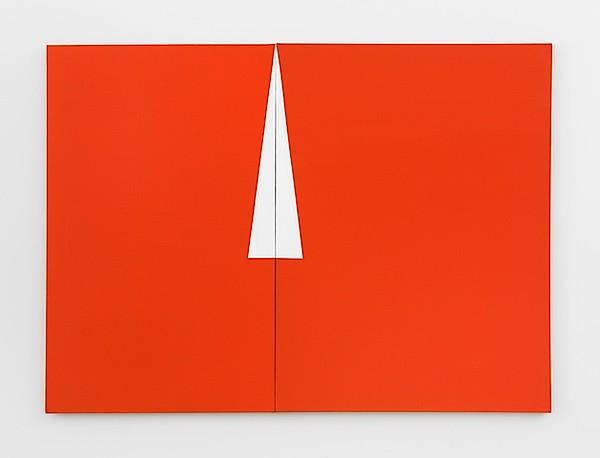 Carmen Herrera, Red with White Triangle, 1961, Acryl auf Leinwand, 121,9 x 167,6 cm, Privatsammlung, New York, © Carmen Herrera