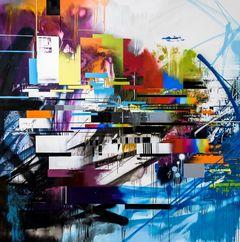 Markus Genesius (WOW123), My Roots, 2017, 200 x 200 cm, Sprayfarbe auf Leinwand, Foto: Aaron Chao