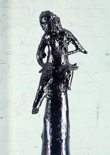 Wu-san (Ausschnitt), 2004, Terrakotta glasiert, Fotograf: Lothar Schnepf (Köln)