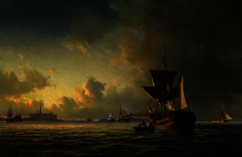 Anton Melbye, Im Øresund vor Kronborg, 1862, Öl auf Leinwand, Privatsammlung, Hamburg