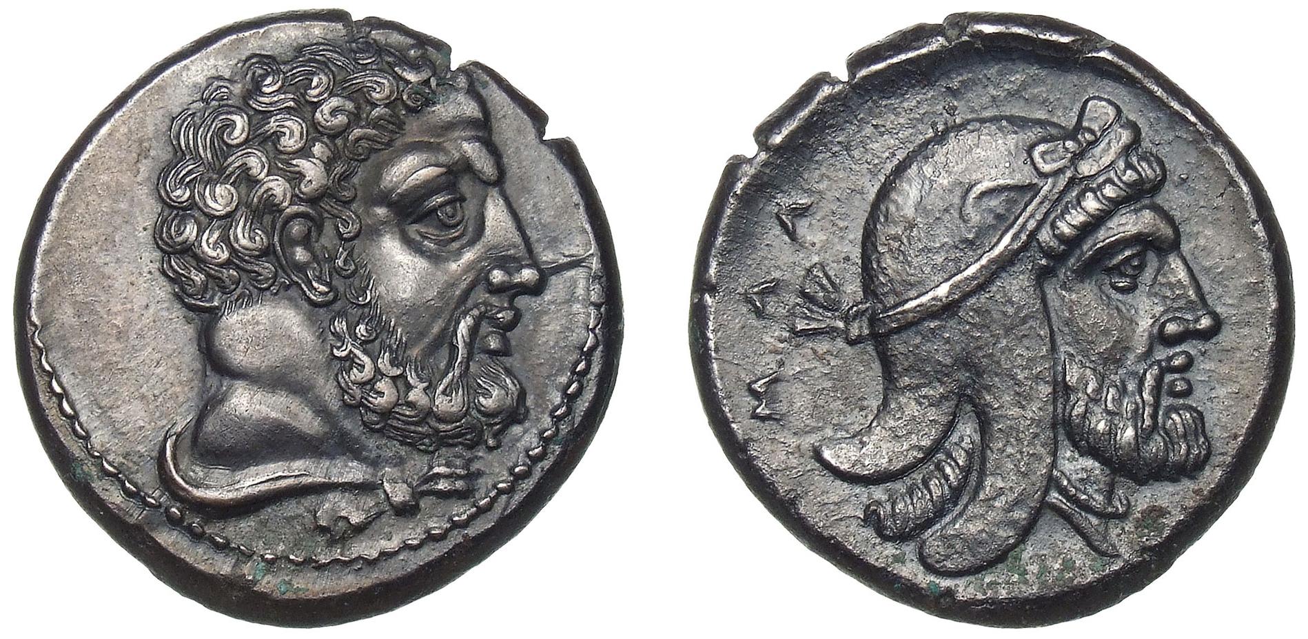 Persischer Satrap (Gouverneur). Mallos, Stater, ca. 400-375 v. Chr. © Staatliche Museen zu Berlin, Münzkabinett