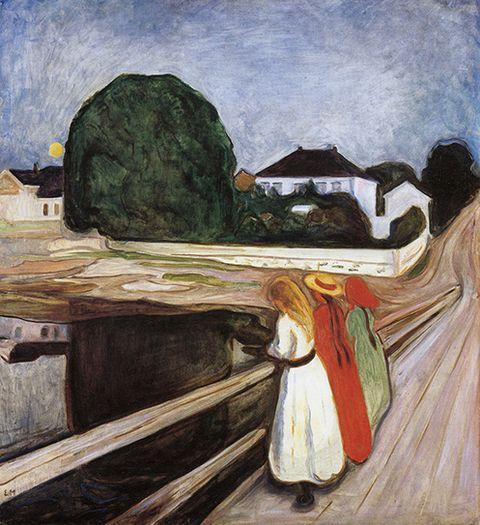 Edvard Munch, Die Mädchen auf der Brücke, 1927, Munch-Museum Oslo