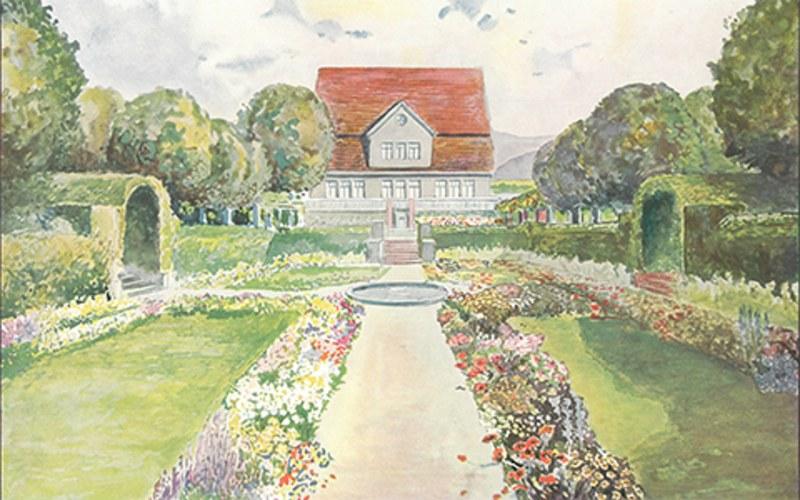 Garten am Ufer der Fulda, Friedrich Schlander