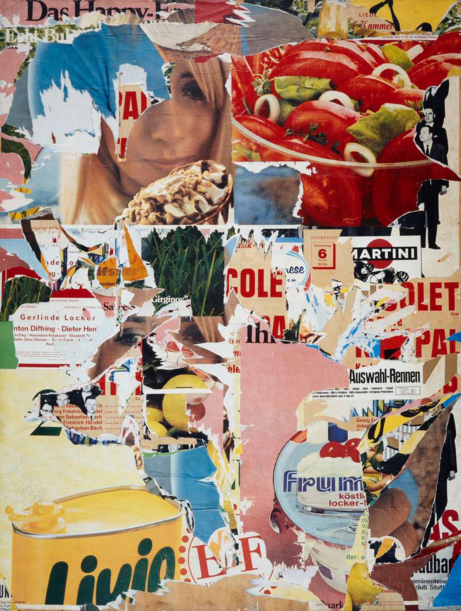 Wolf Vostell, Dé/collage – Staatsgalerie, 1971, Plakatabriss © VG Bild-Kunst, Bonn 2017. Bild: Jürgen Spiler