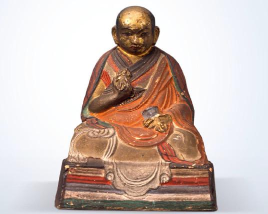 Tonfigur des Zanabazar, Sammlung H. Leder. © Museum für Völkerkunde Hamburg