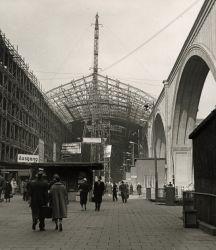 Hauptbahnhof, Wiederaufbau Querbahnsteig, 1960, Foto Hans-Joachim Kern
