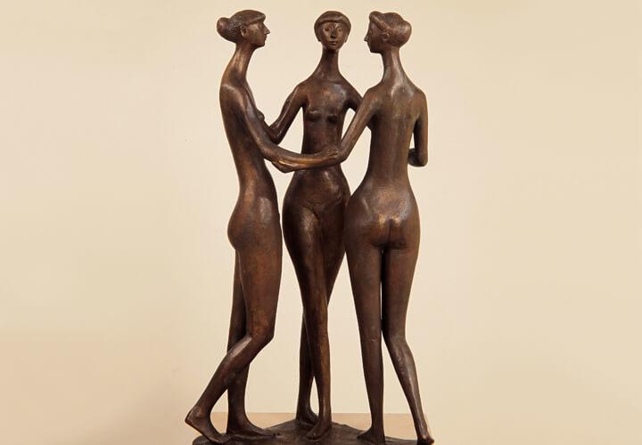 Gerhard Marcks, Drei Grazien, 1957, Bronze,  © VG Bild-Kunst, Bonn 2017