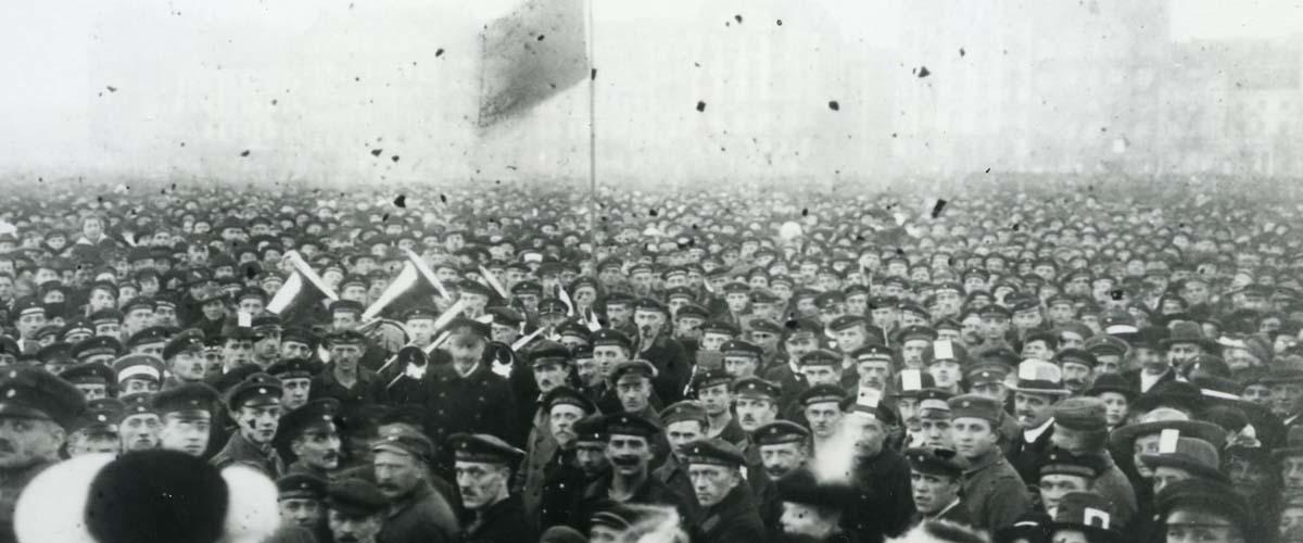 Demonstration auf dem Hamburger Heiligengeistfeld am 24.11.1918