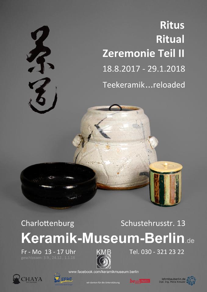 Ritus – Ritual – Zeremonie. Teil 2. - Plakat zur Ausstellung, Keramik-Museum Berlin