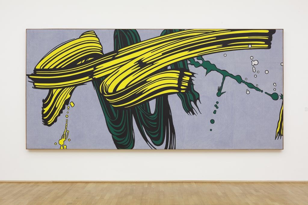 Roy Lichtenstein: Yellow and Green Brushstrokes, 1966, © The Estate of Roy Lichtenstein/ VG Bild-Kunst, Bonn 2017, Foto: Axel Schneider