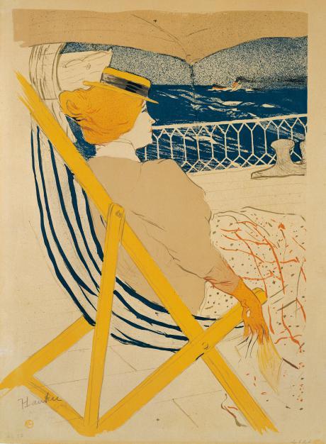 Henri de Toulouse-Lautrec, La Passagère du 54 – Promenade en yacht (Detail), 1896, Städel Museum, Frankfurt am Main