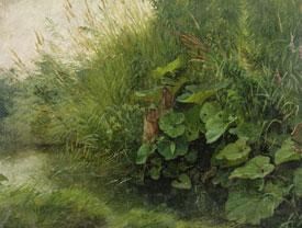 Adolf Höninghaus (1810 – 1882), Ohne Titel, o.J., Öl auf Papier auf Pappe, 29 x 38,2 cm, Inv. Nr. GV 2016/805, Slg. Kunstmuseen Krefeld, Foto: V. Döhne, Kunstmuseen Krefeld
