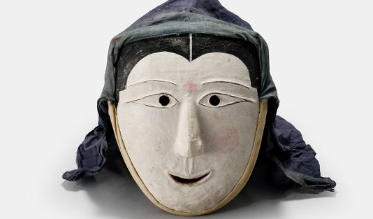 Maske für den Maskentanz Sandea, Korea, 19. Jh. Foto: ©NRICH