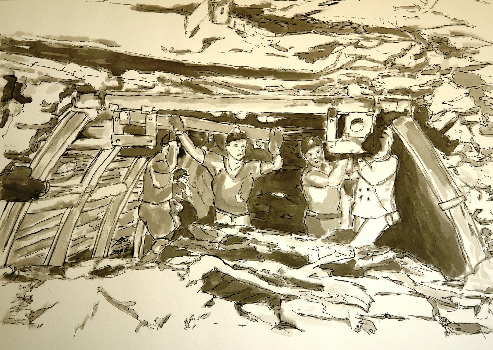 Motiv zum Steinkohlebergbau von Wolfgang Büse