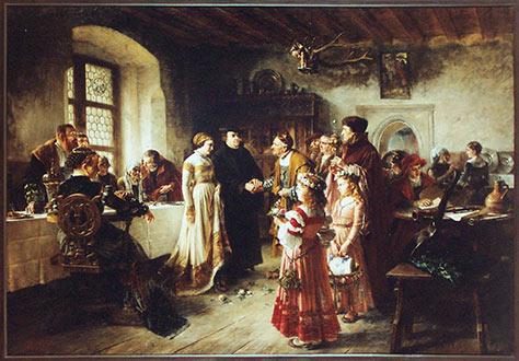 Konrad Weigand: Luthers Hochzeit. Bildnachweis: Kunstsammlungen der Stadt Nürnberg