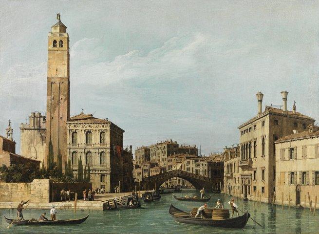 Giovanni Antonio Canal gen. Canaletto Ansicht der Mündung des Canale di Cannaregio, ca.1735-1742 Öl auf der Leinwand © LIECHTENSTEIN. The Princely Collections, Vaduz–Vienna