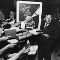 Peter Ustinov während der Berlinale 1955  © Heinz Köster / Deutsche Kinemathek