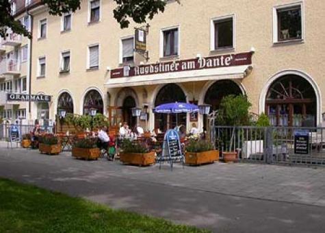 EXTERIOR Die Terrasse des Restaurants Augustiner am Dante